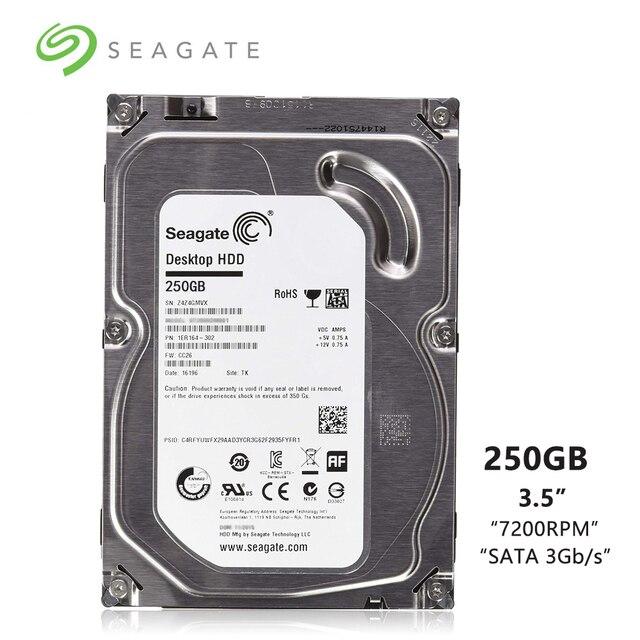 """Seagate Thương Hiệu 250 gb Máy Tính Để Bàn PC 3.5 """"Nội Bộ Cơ Khí đĩa Cứng SATA 1.5 Gb/giây HDD 250 gb 7200 vòng/phút 8 mb/16 mb Đệm"""