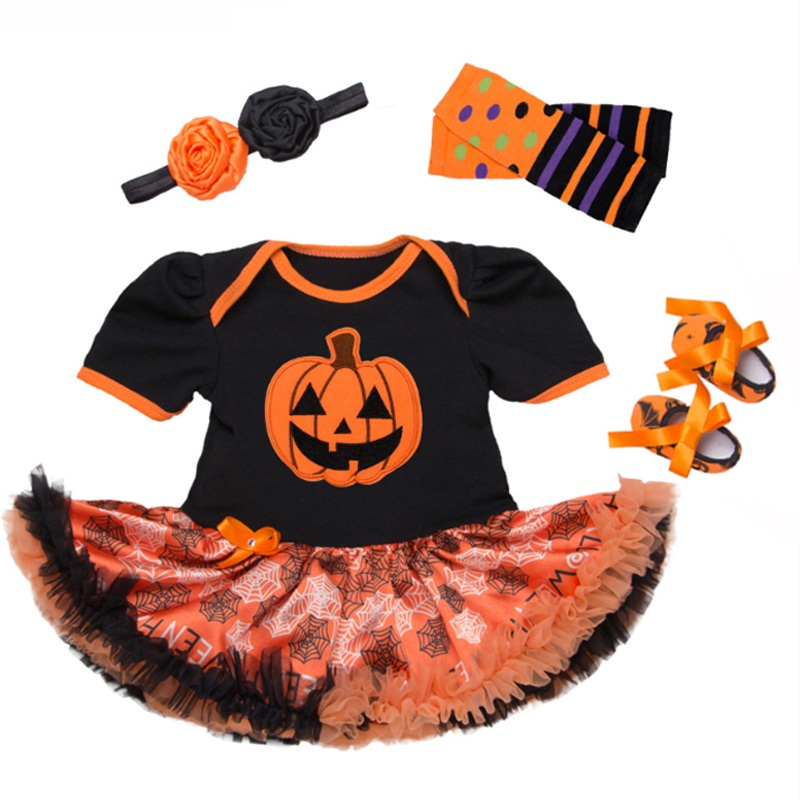 Romantic Baby Girl Clothing Suits Girls Cutest Pumpkin Outfits Baby Halloween Boutique C ...
