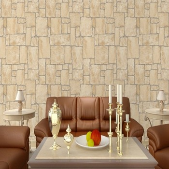 High grade club entrance imitation marble characteristics imitation stone living room TV backdrop wallpaper