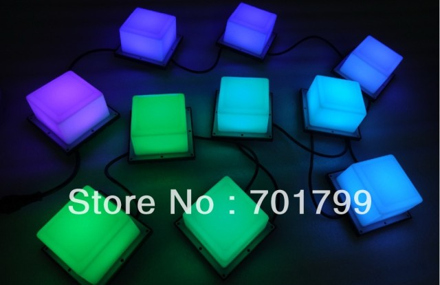 20pcs DC12V WS2811 square type pixel module,6pcs 5050 SMD rgb led inside,1.44W,100mm*100mm,milky cover