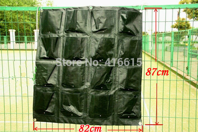 Vertical Gardens Hanging Wall Pot With 16 Pages Specical Planting Bag Plastic Plant Pots Balcony Vegetables Garden Decoration