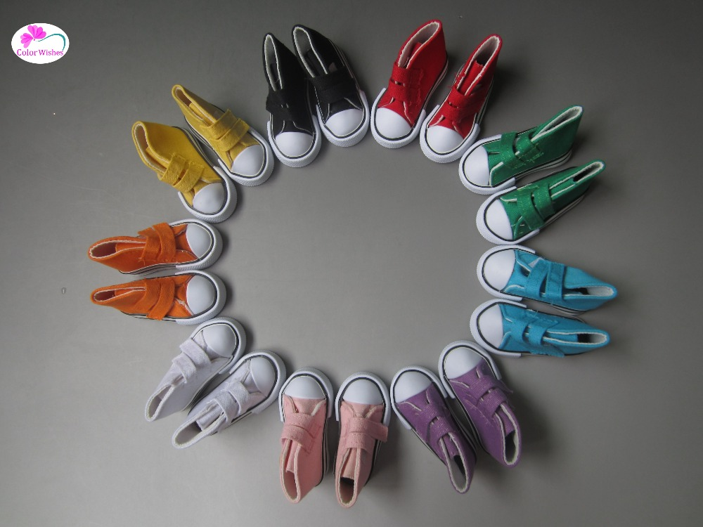 7 5cm Magic stickers canvas sneakers shoes For font b doll b font 1 3 1
