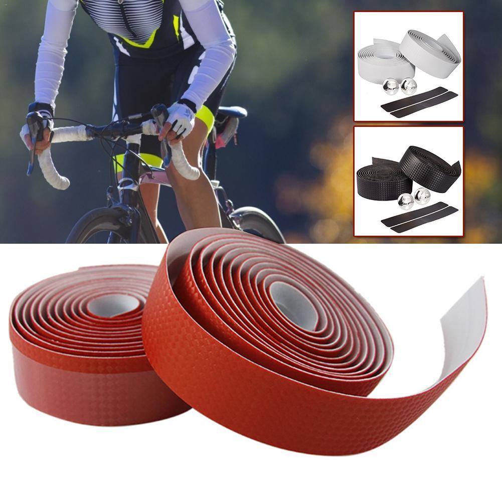 2m Handlebar Tape Carbon Fibre Non-slip Cycling Road Bike Bicycle Belt Strap Bandage Set Bicycle Straps Carbon Fiber Racing