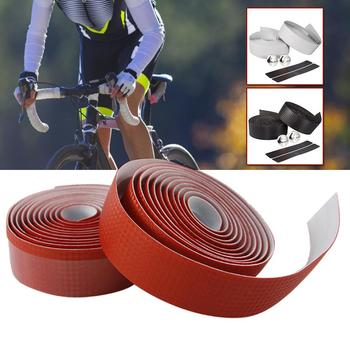2m Handlebar tape carbon fibre non-slip cycling road bike bicycle belt strap bandage set Bicycle Straps Carbon Fiber Racing image