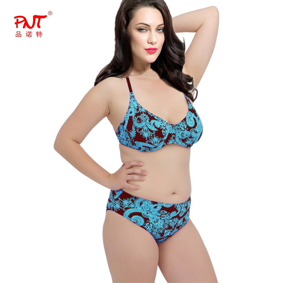 PNT 2016 Sexy women's swimwear women bikini top Push Up Bikini Set swimsuit women Sexy plus size High Waisted bikini women 2016