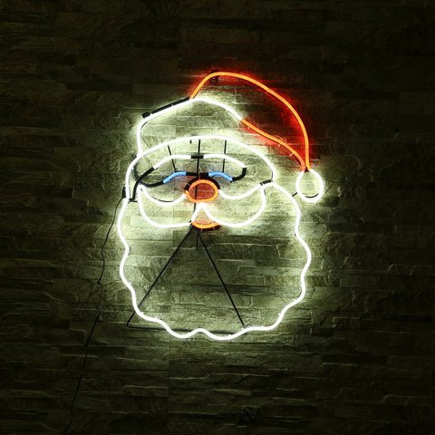 novo sinal de neon luz da noite papai noel projeto da forma amor ornamento decoracoes
