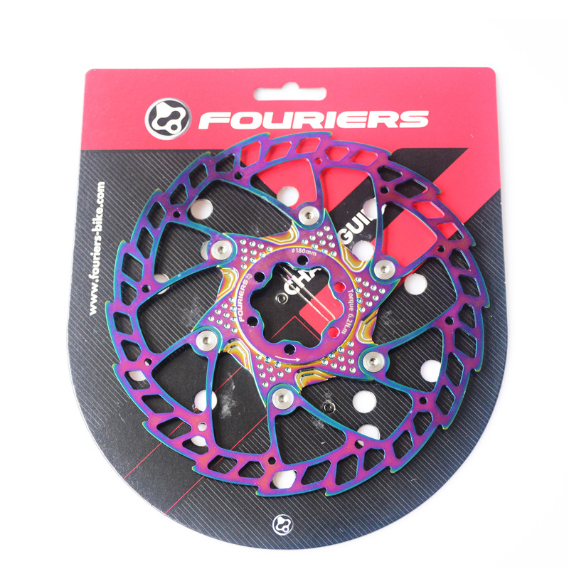 FOURIERS MTB Mountain road bike bicycle floating disc brake rotor 140 160 180 203mm six hole disc rotors six holes 180mm 7inch bicycle brake rotors floating brake disc free shipping