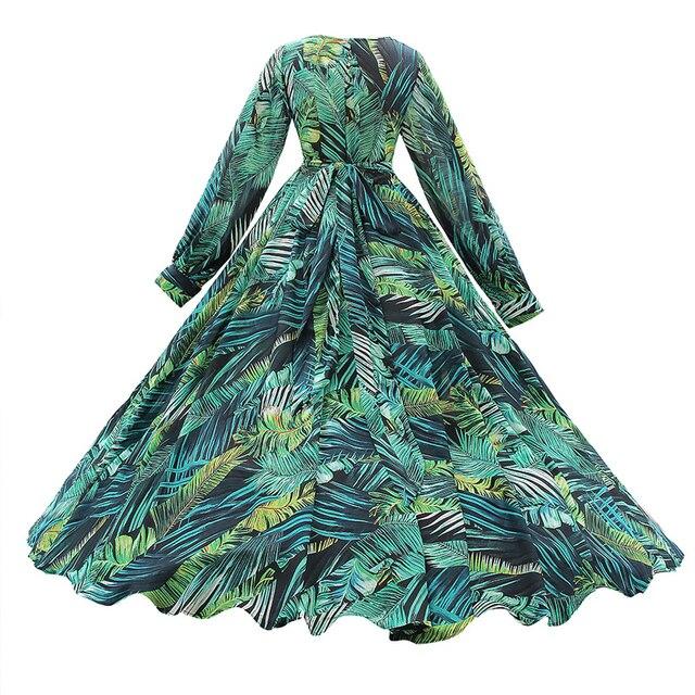 Long Sleeve Floral Print Maxi Dress  3