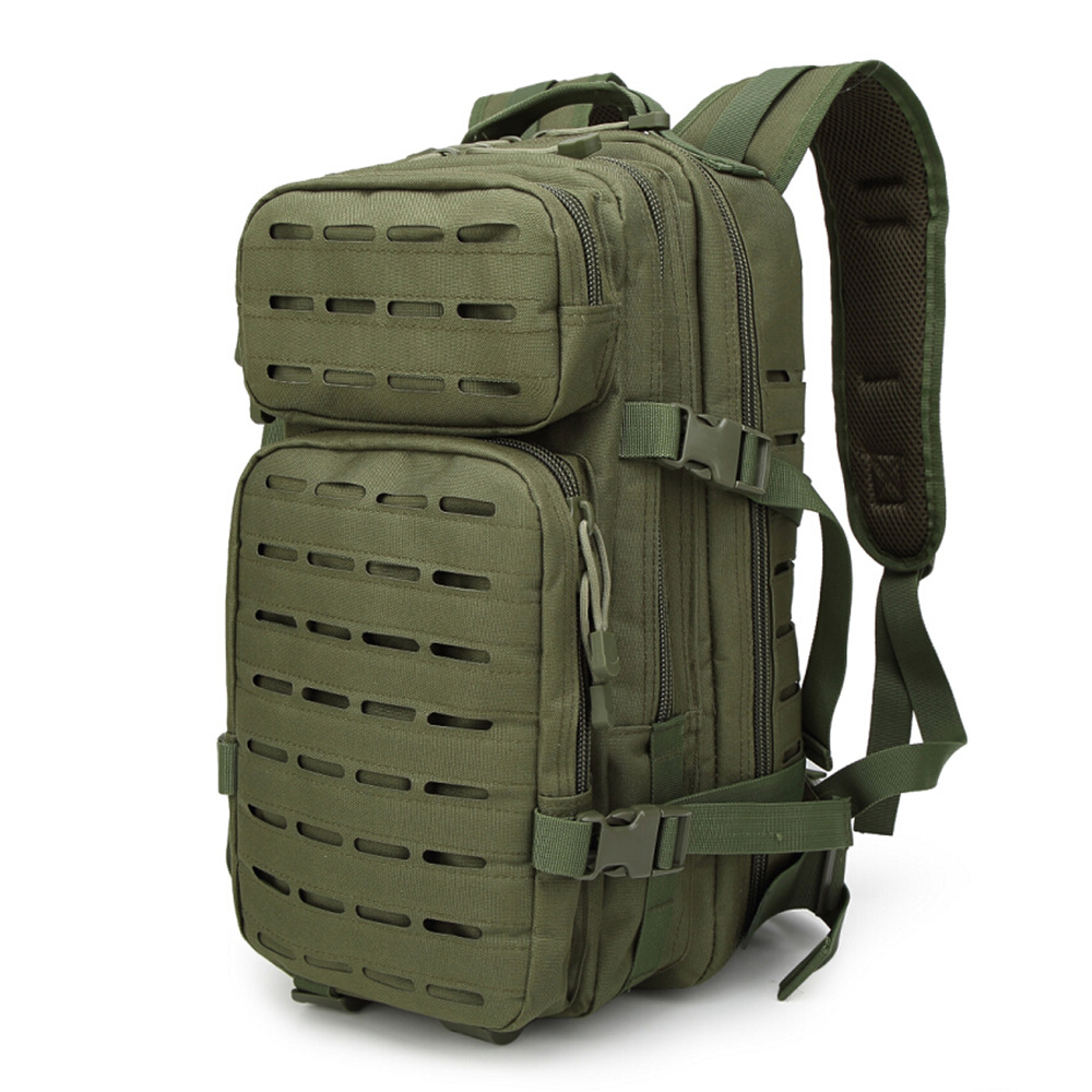 25L/30L Tactical Bckpack Laser-Cut MOLLE Assault Pack for Camping Hiking Hunting Travelling Nylon Bag Fits 13 inch Laptop