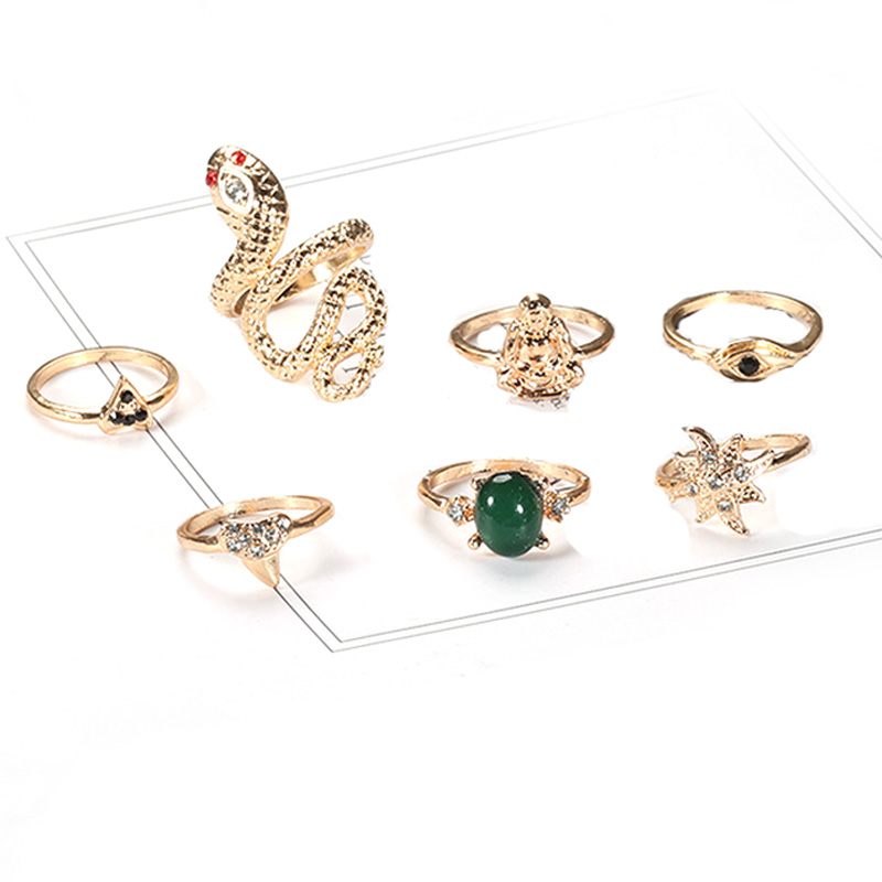 Plated Mid Finger Rings for Girls & Women