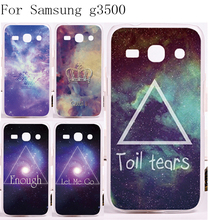 Cell Phone Cover Cases For Samsung Galaxy G3500 Cases DIY Printing Clourful Fantasy Stars Sky Painted Plastic and Silicon Shell