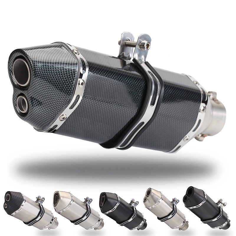 36-51mm Universal Motorcycle Exhaust Modified MufflerScooter Pit Bike Dirt Motocross For R6 ER6N CBR250R Z650 MT07 R25