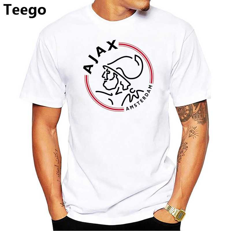Best Quality 2018 Ajax men's t shirts Top quality Fashion Summer Mens Casual T Shirts Ajax Cartoon print T shirt