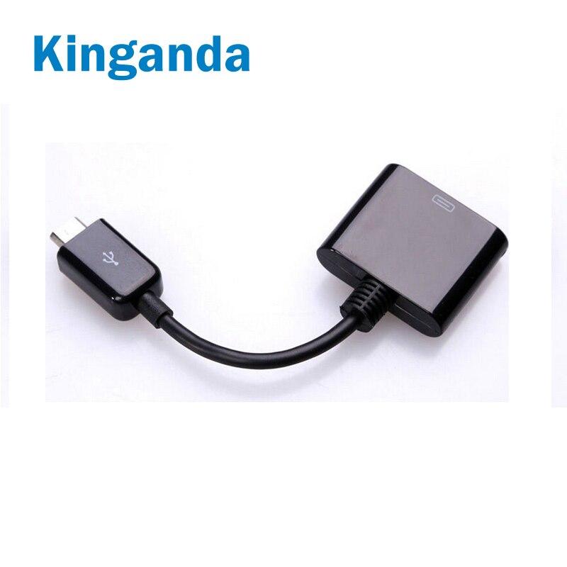 Адаптер для телефона конвертер 30 Pin мама к Micro USB Мужской синхронизации данных зарядный адаптер для iPhone 4 4S
