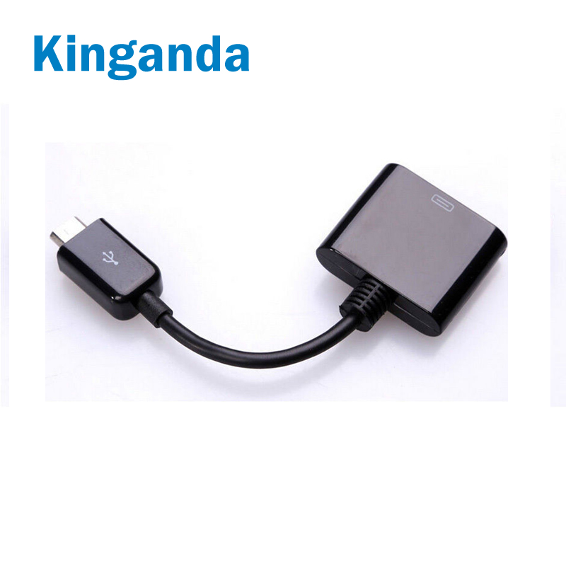 For Phone Adapter Converter 30 Pin Female To Micro USB Male Data Sync Charging Adapter For IPhone 4 4S