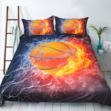Home Textiles 3pcs Luxury Bedding Outlet Basketball Printing Set Hot Design Duvet Bed Cover