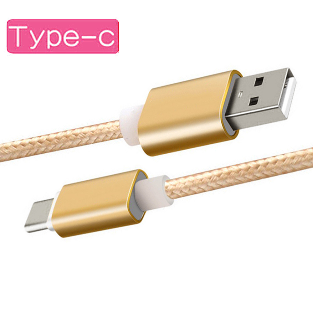 1M 2M 3M Nylon Braided USB type C USB 3.1 cable Fast charger type-c 3.0 Data Sync charging USB-C for XIAOMI 5 redmi 4 HUAWEI LG