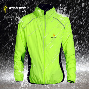 WOLFBIKE Windproof Waterproof Cycling Jacket Mtb bike bicicleta Motocross Windcoat Long sleeve Ropa Ciclismo Cycling Vests jakroo elt2 female thermal cycling jacket full sleeve high neck fleece cycling jersey windcoat warm up bike cycling equipment