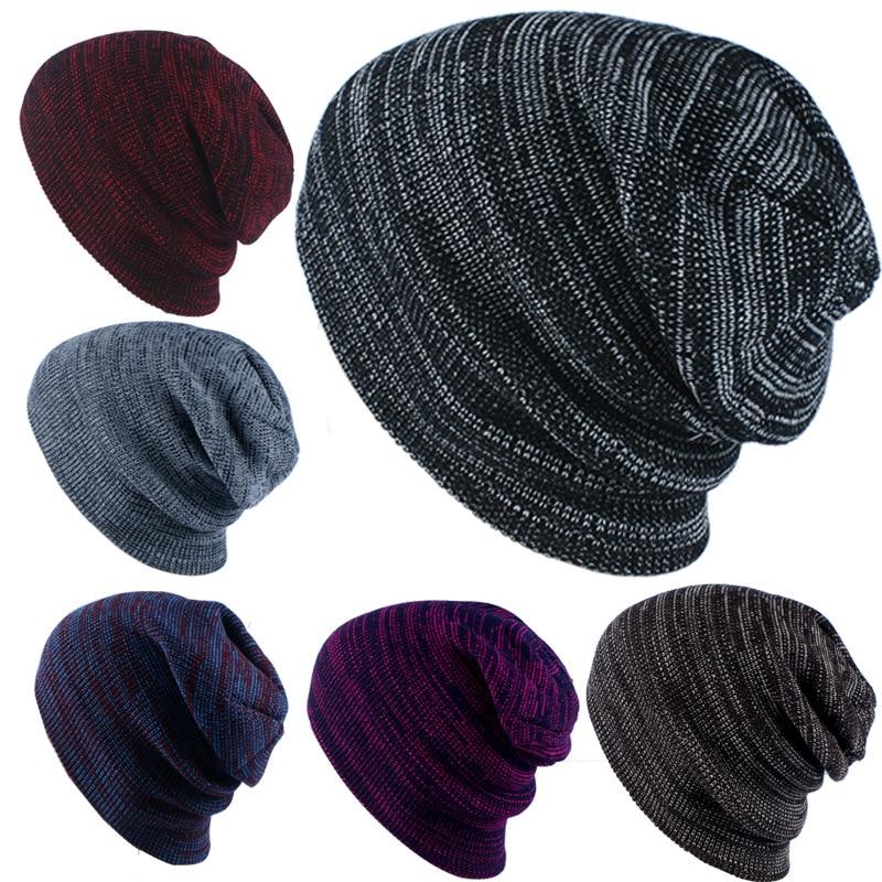 Winter Hat For Men   Skullies     Beanies   Women Fashion Warm Cap Unisex Elasticity Knit   Beanie   Hats Drop Shipping