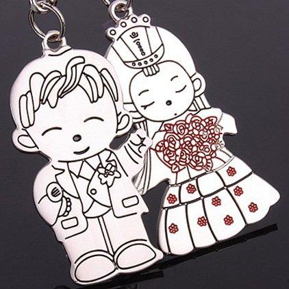 1 партия = 30 пар! Модный креативный металлический брелок для пары с изображением мужа и жены/свадебный подарок/Связывание шипов