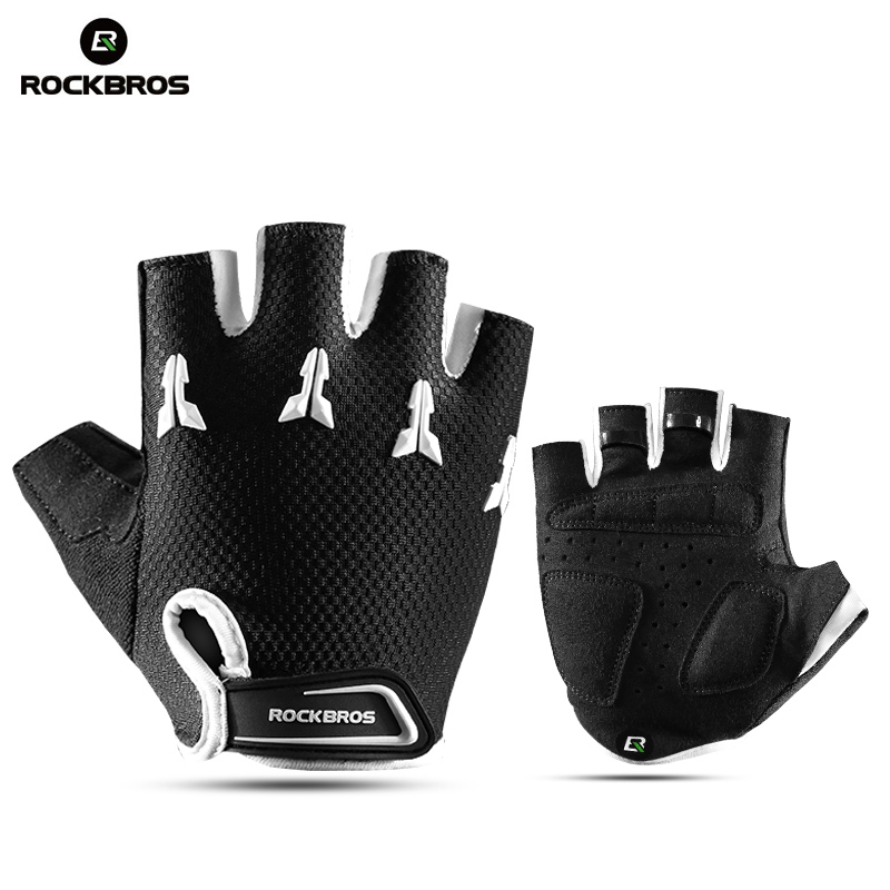 ROCKBROS Cycling Bicycle Bike Children Half Finger Gloves Kids Anti-stock Breathable Gel Pad Boys Girl Bike Sports Gloves Mitten