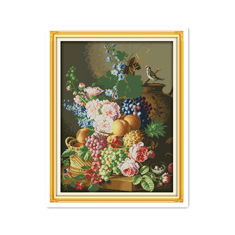 The beautiful vase looks good decorative painting handmade cross stitch suite embroidery 11CT 14CT wall decorative painting