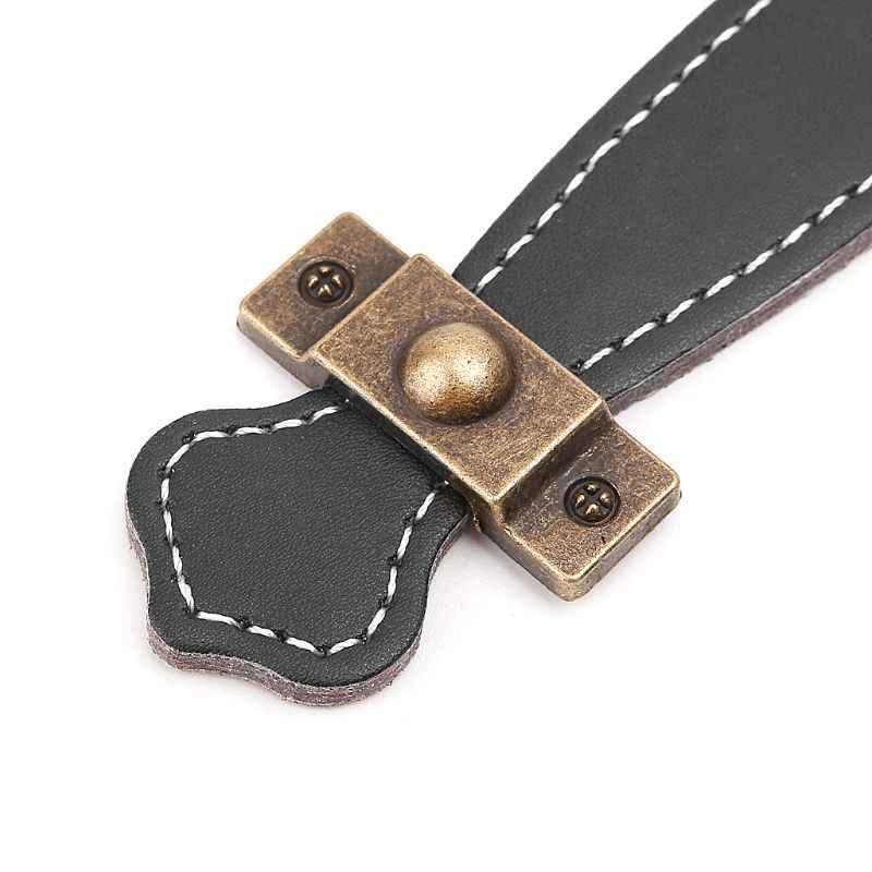 Armário alça de couro macio do plutônio cômoda gaveta puxadores de porta acessórios domésticos