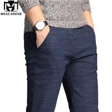 MIACAWOR Casual Pantaloni Degli Uomini di Alta Qualità Moletom Masculino Elastico Slim Fit Pantalones Hombre Pantaloni Maschili Più Il Formato 38 K111