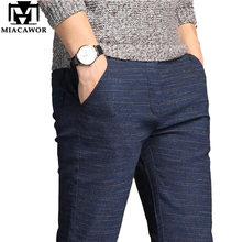 MIACAWOR Casual Pants Men High Quality Moletom Masculino Elastic Slim Fit Pantalones Hombre Trousers Male Plus Size 38 K111
