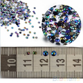 Hot Sale 300pcs 3D Nail Art Tips gems Crystal Glitter Rhinestone DIY Decoration + Wheel  03XW