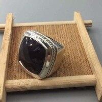 Брендовые украшения женщина стерлингового серебра 20 мм кольцо из черного оникса драгоценные ювелирные изделия