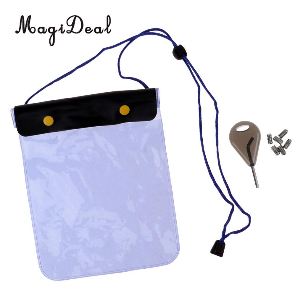 MagiDeal Surfing Fin Key Screws & Waterproof Dry Bag Wallet for Water Sports Surf Wakeboard Longboard Shortboard