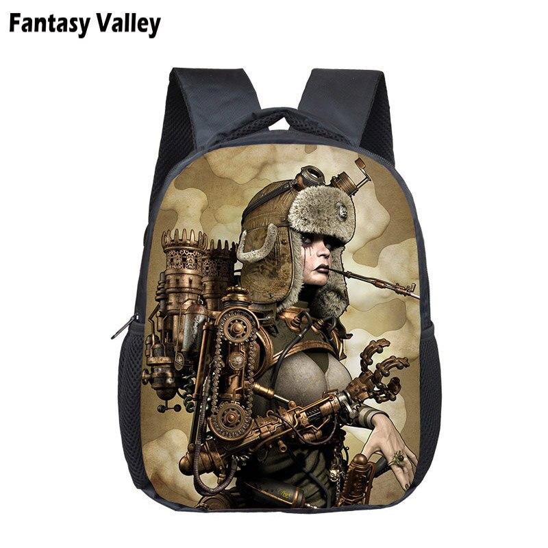 Cool Steampunk Animal Backpack Children School Bag