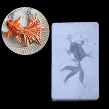 Новинка Силиконовая 3D золотая рыбка Ангел Осьминог Esc Подвеска Форма для жидкости DIY Смола ювелирных изделий ремесло инструмент торт плесень