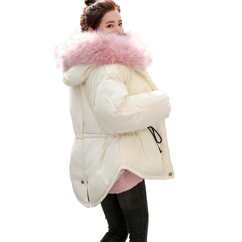 Beieuce new women Faux fur collar short   parkas   down cotton jacket Winter Jacket Women thick Snow Wear Coat Lady Clothing Female