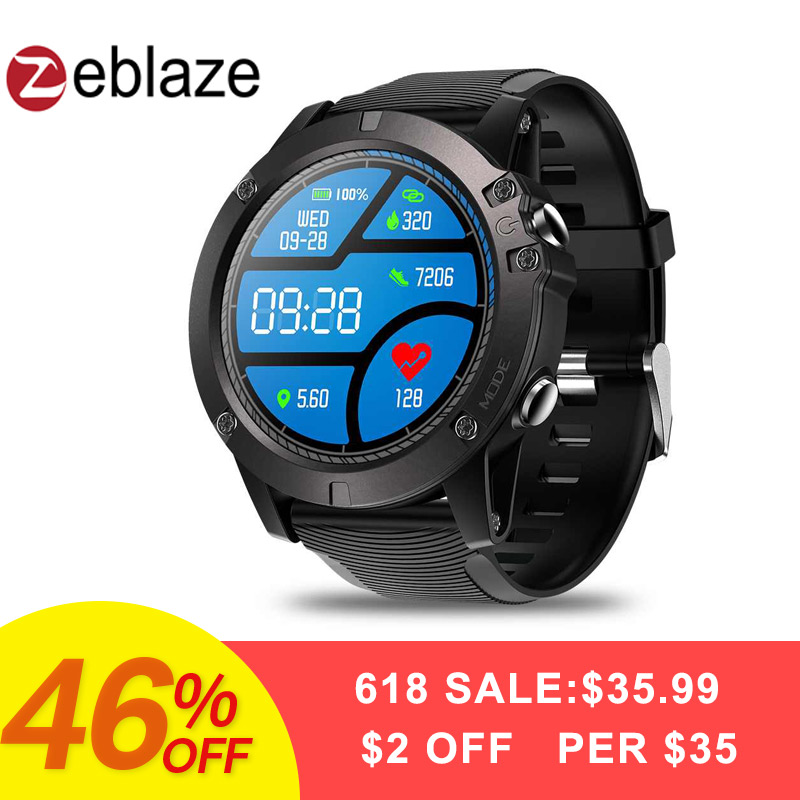 Zeblaze VIBE 3 Pro Touch Screen Smart Watch Men Real-time Weather Optical Heart Rate Monitor All-day Tracking Sports Smartwatch g6 tactical smartwatch