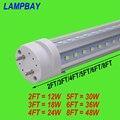 (30 Pack) Free Shipping LED Tube V shaped Bulb 270 angle T8 G13 two pins 2FT=12W 3FT=18W 4FT=24W 5FT=30W 6FT=36W 8FT=48W 85-277V