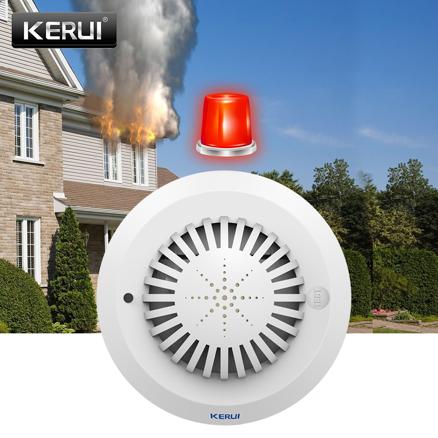 KERUI SD03 High Sensitivity Voice Prompts Smoke Fire Detector/Sensor Low Battery Remind linkage With Kerui Home Alarm System