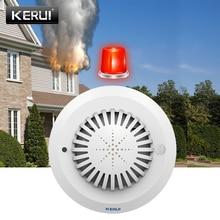 Kerui SD03 高感度音声プロンプト煙火災検出器/センサーローバッテリーが思い出さリンケージ kerui ホーム警報システム
