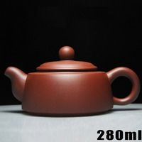 Hot Sale Teapot Yixing Teapots Bouns 3 Cups Purple Clay Tea Pot 280ml Ceramic Chinese Handmade