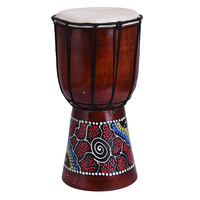 6 In African Drum Percussion Instruments Classic Unique Purely Manual Painting Wooden African Style Hand Drum