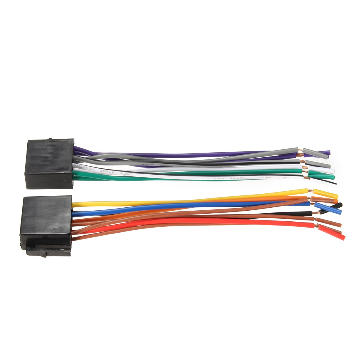Universal Wire Harness Adapter Connector Cable Radio Wiring Connector Plug for Auto Car Stereo System universal wire harness adapter connector cable radio wiring universal wiring harness connector at cita.asia