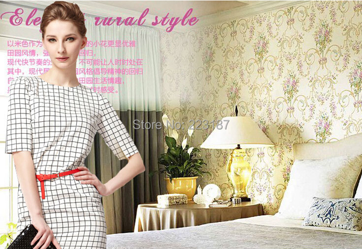 palace classic bedroom a sitting room of Europe type style 10m*53cm non-woven wallpaper bedroom wall stickers home decor new fine fabric texture wall of setting of the bedroom a study wallpaper of europe type style yulan wallpaper fashion pavilion