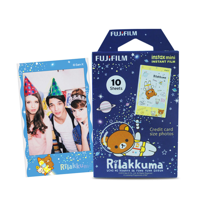 Original Fujifilm New Rilakkuma Instax Mini 8 film (10 sheets) for Polariod mini Camera Instant mini 7s 25 50s 90 300 Share SP-1
