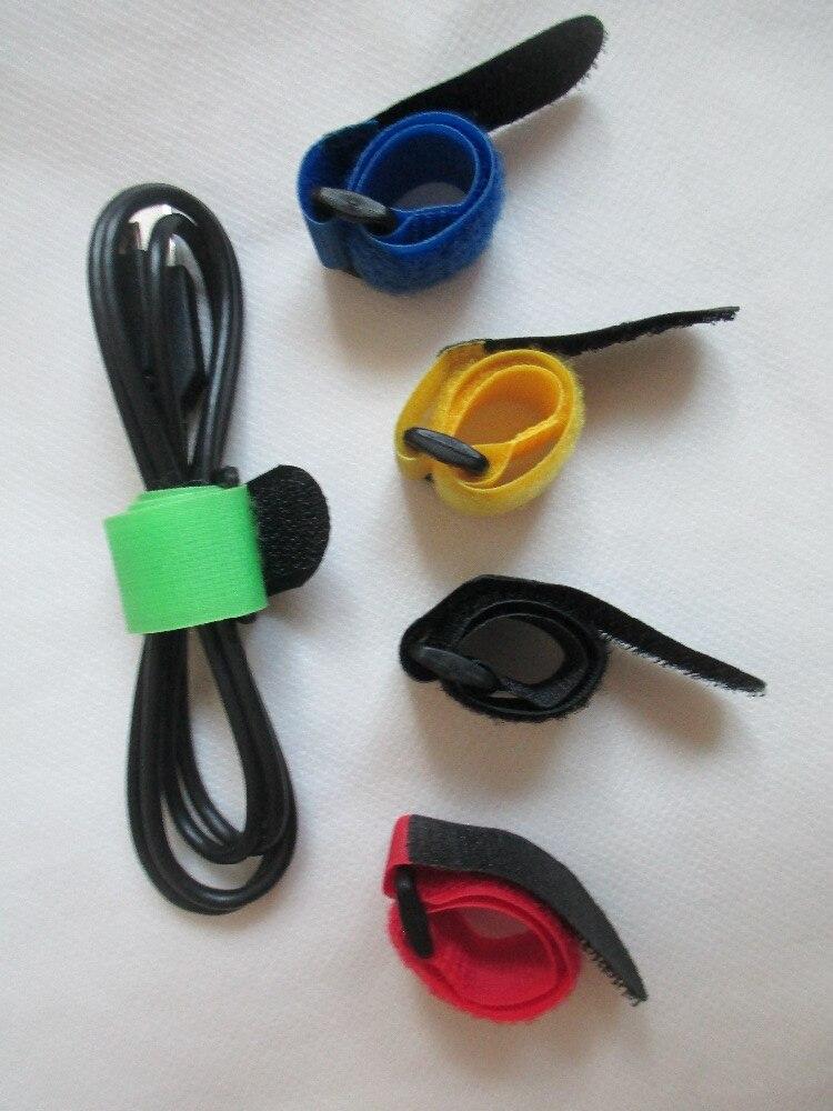 100pcs/lot Reusable Cable Ties Straps with Plastic button Strip ...