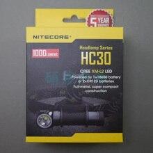 2015 Yeni Nitecore HC30 Far CREE XM-L2 U2 1000 Lümen Far Su Geçirmez El Feneri Torch Kamp Seyahat Için Freeshiping