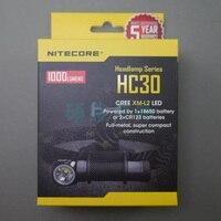 2015 New Nitecore HC30 Headlamp CREE XM L2 U2 1000 Lumen Headlight Waterproof Flashlight Torch For