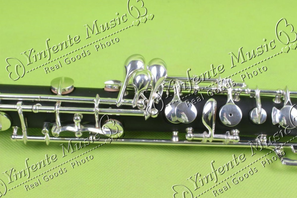 New children oboe kit C key mixed wooden body cupronickel parts silver plated #1