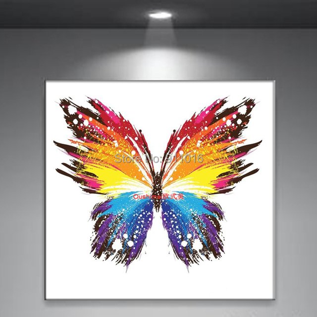 Aliexpress.Com : Buy Handmade Abstract Butterfly Picture Home