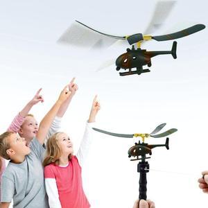 Image 1 - طائرة هليكوبتر للأطفال طراز طائرة مروحية بمقبض وسحب ، ألعاب خارجية للأطفال ، ألعاب طائرة بدون طيار ، هدايا للمبتدئين ، رائعة